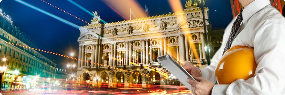 L'Opéra de Paris de nuit